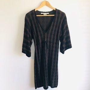 M A X  S T U D I O  Brown/Black  Knit Dress